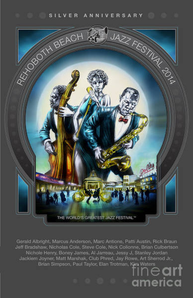 Wall Art - Mixed Media - Rehoboth Beach Jazz Fest 2014 by Mike Massengale