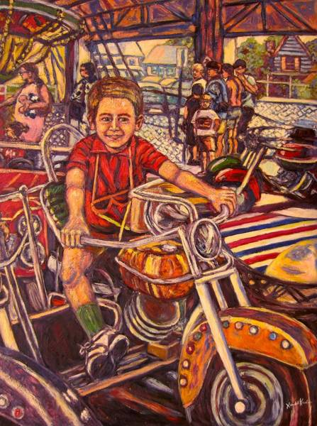Painting - Rehoboth Beach Rides by Kendall Kessler