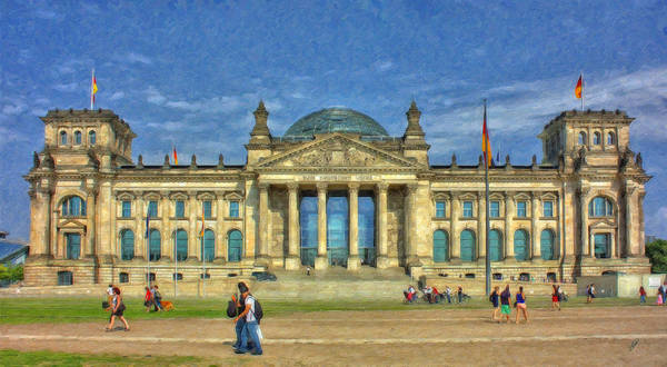 Painting - Reichstag Berlin Ger5105 by Dean Wittle