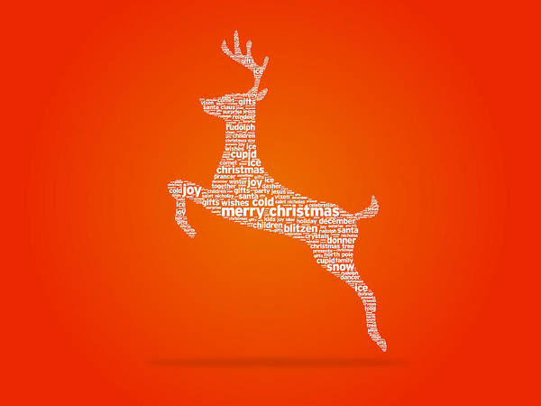Christmas Tree Drawing - Reindeer by Aged Pixel