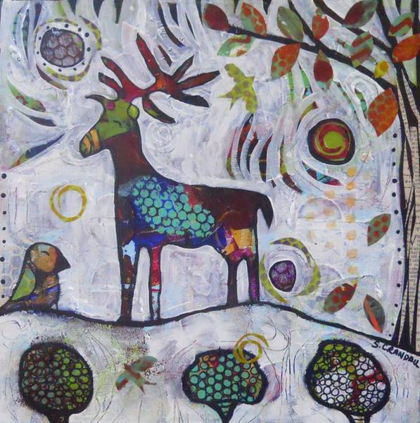 Pod Mixed Media - Reindeer Folly by Shannon Crandall