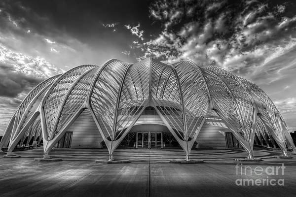 Santiago Calatrava Photograph - Reinforced Technology - Bw by Marvin Spates
