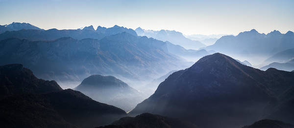Blau Photograph - Reiter Alpe And Ristfeuchthorn by Alexander Kunz