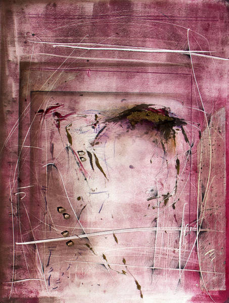 Monotype Mixed Media - Reiteration by Jeannette Debonne