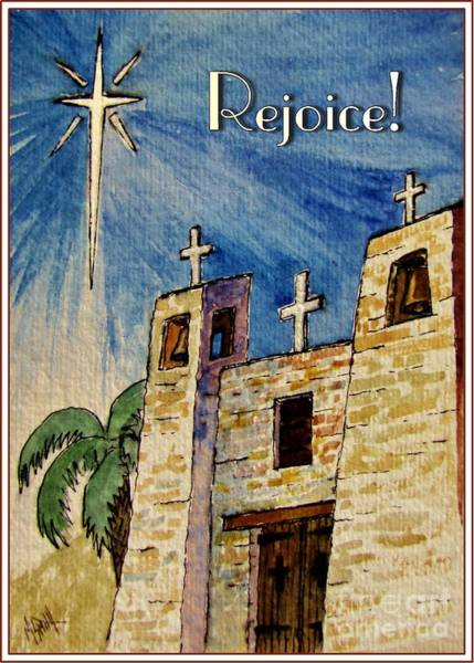 Star Of Bethlehem Painting - Rejoice by Marilyn Smith