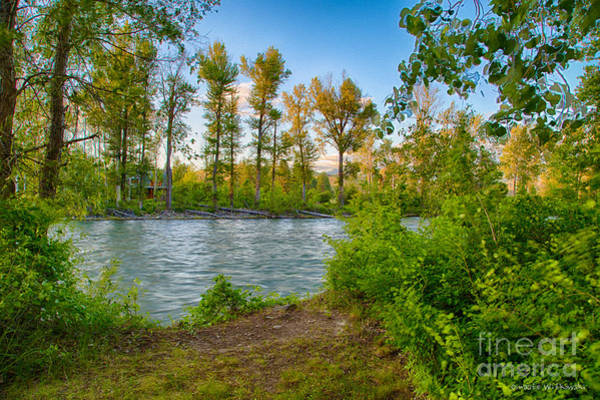 Digital Art - Relax By The Methow Rivers Edge by Omaste Witkowski