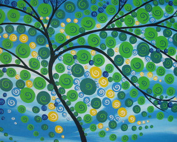 Framing Painting - Relaxation Tree by Cathy Jacobs
