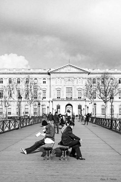 Photograph - Relaxing Afternoon On The Pont Des Arts In Paris by Mark E Tisdale