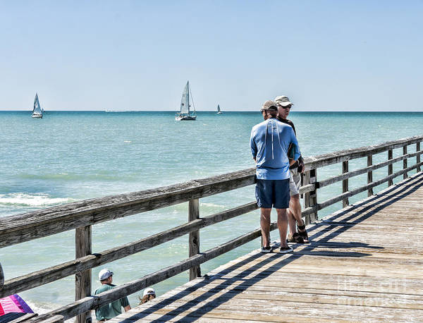 Wall Art - Photograph - Relaxing At Naples Pier by William Kuta