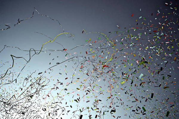 French Riviera Photograph - Release Of Confetti Under Blue Sky by Jeren (france)