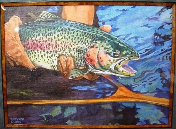 Painting - Releasing A Rainbow by Tim  Joyner