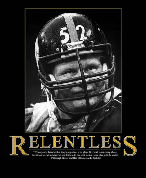 Wall Art - Photograph - Relentless Mike Webster by Retro Images Archive