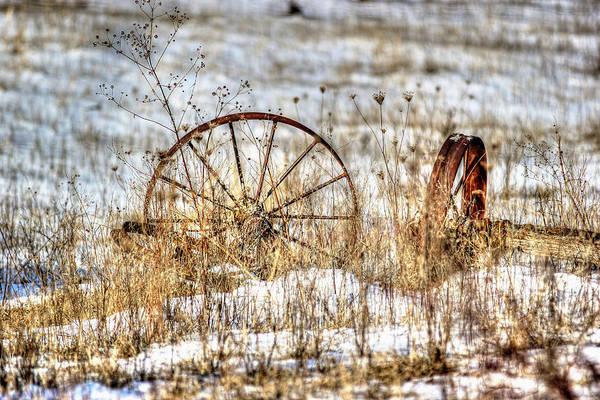 Wagon Wheel Photograph - Relic by Thomas Danilovich