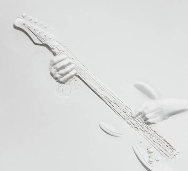 Plaster Photograph - Relief Of Guitarplayer by Henrik Sorensen