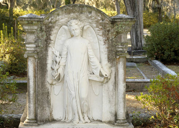 Photograph - Relief Sculpture Grave Angel  by Bradford Martin