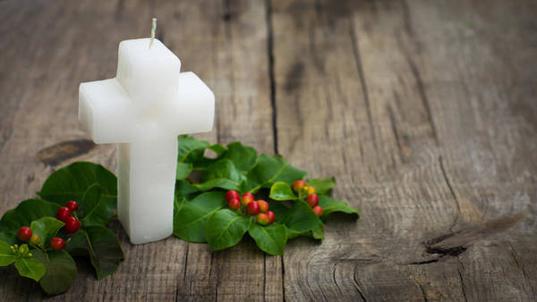 Holy Spirit Photograph - Religious Candle by Aged Pixel