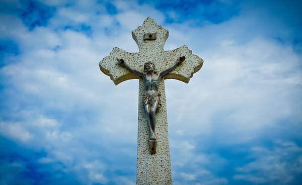 Holy Spirit Photograph - Religious Cross by Aged Pixel