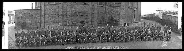 Platoon Wall Art - Photograph - Remainder Of Original Co. M. 23rd by Fred Schutz Collection