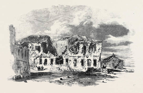 Ukraine Drawing - Remains Of The Hospital In Sebastopol by English School