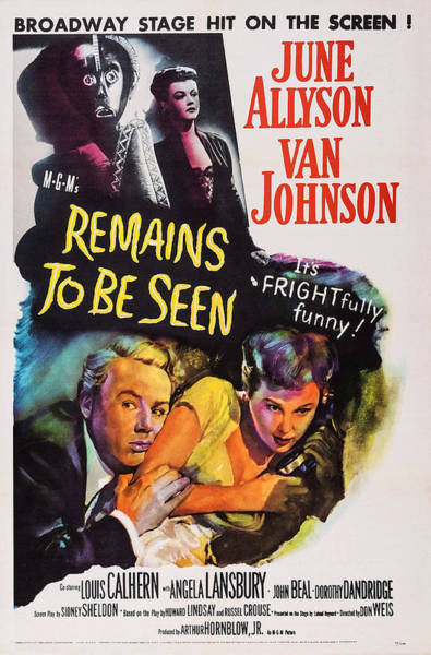 Van Johnson Photograph - Remains To Be Seen, Us Poster, Angela by Everett