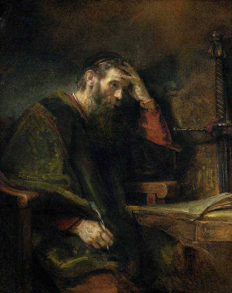 Wall Art - Painting - Rembrandt Apostle Paul, C1657 by Granger