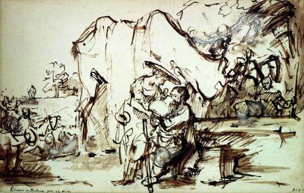 Wall Art - Drawing - Rembrandt Eliezer, C1640 by Granger