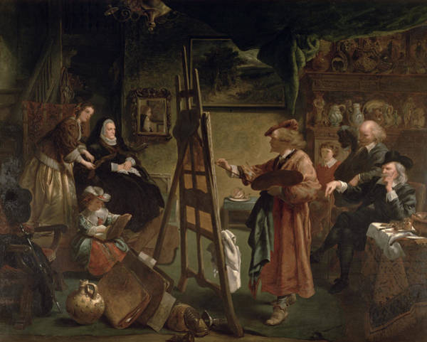 Wall Art - Painting - Rembrandt In His Studio by Sir John Gilbert