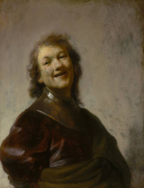 Painting - Rembrandt Laughing by Celestial Images