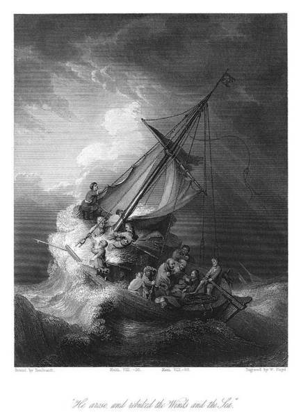 Wall Art - Painting - Rembrandt Storm, 1633 by Granger