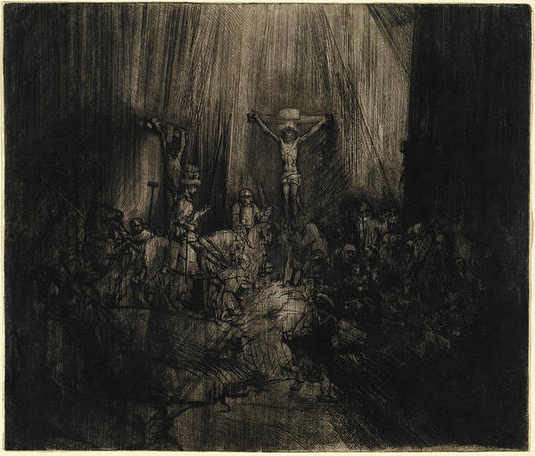 Wall Art - Drawing - Rembrandt Van Rijn, Dutch 1606-1669, Christ Crucified by Litz Collection