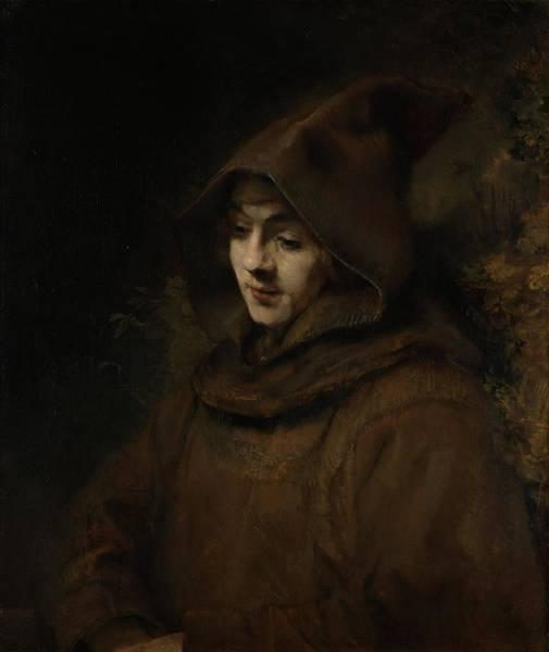 Franciscan Photograph - Rembrandts Son Titus In A Monks Habit, 1660 Oil On Canvas by Rembrandt Harmensz. van Rijn