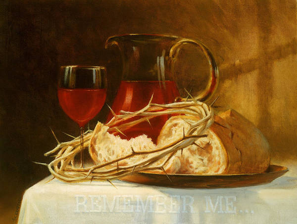 Sacrament Wall Art - Painting - Remember Me by Graham Braddock
