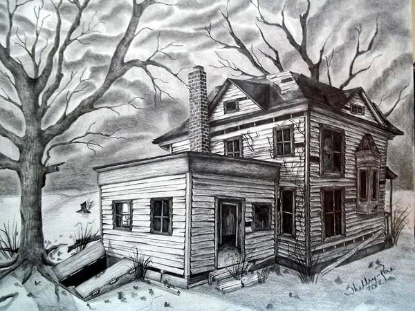 Haunted House Drawing - Remember Me by Shelby Edelman
