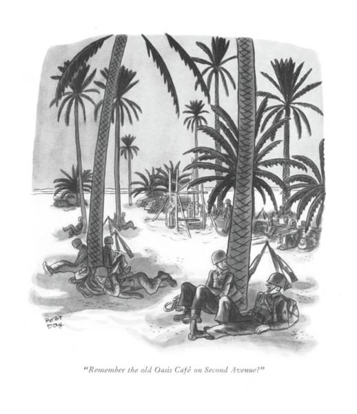 South Island Drawing - Remember The Old Oasis Cafe On Second Avenue? by Robert J. Day
