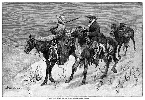 Wall Art - Painting - Remington Hunters, 1888 by Granger