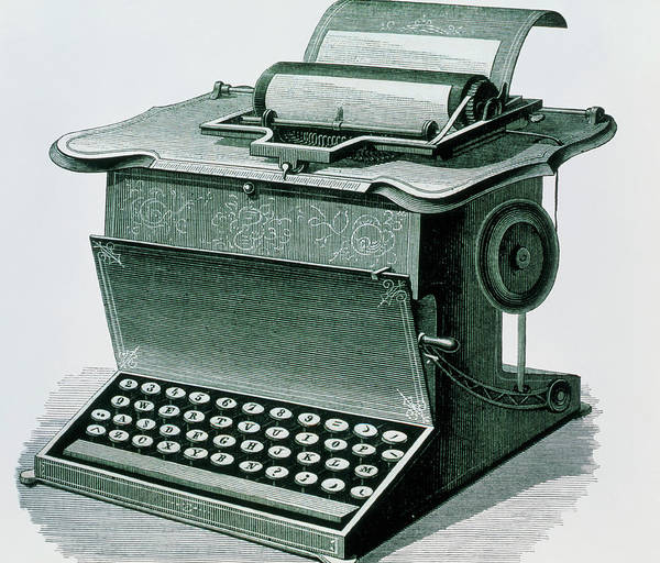 Remington Photograph - Remington's Writing Machine by Sheila Terry/science Photo Library
