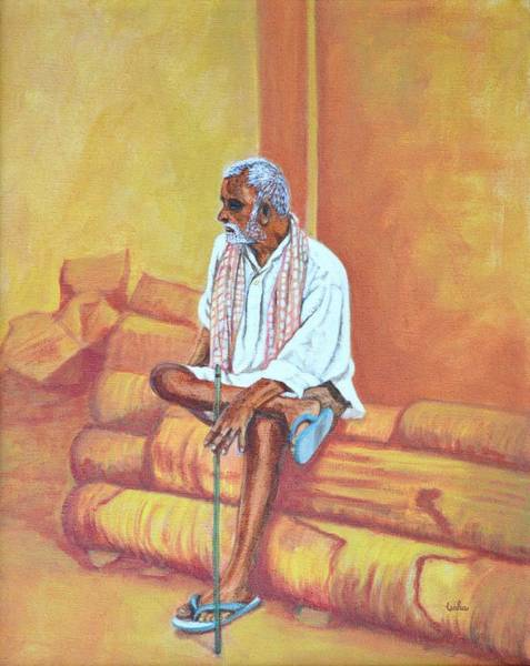 Usha Painting - Reminiscing by Usha Shantharam