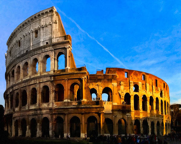 Photograph - Remnants Of Ancient Rome - The Colosseum by Mark E Tisdale