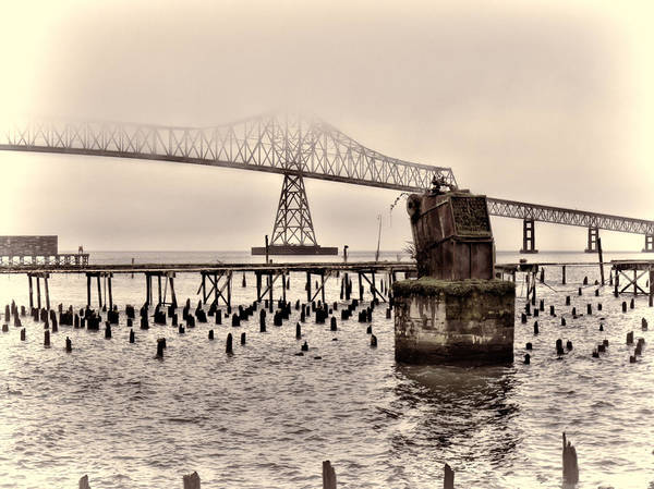 Photograph - Remnants Of Old Astoria by HW Kateley