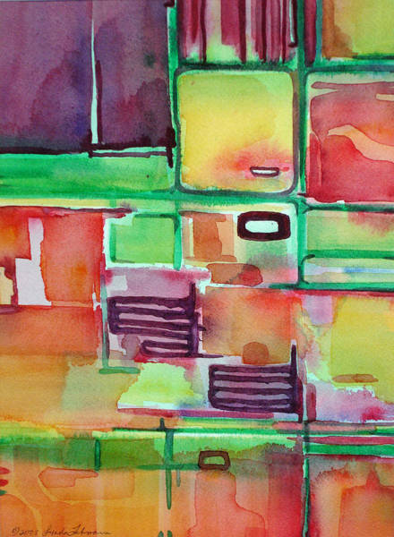 Painting - Remodeling The Kitchen by Lynda Lehmann