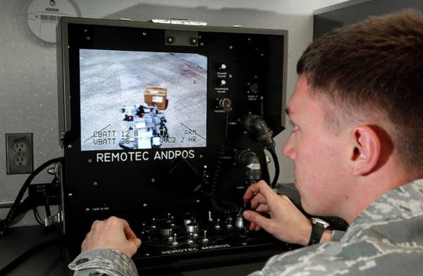 Andros Photograph - Remote Controlled Bomb Disposal by Us Air Force/rey Ramon