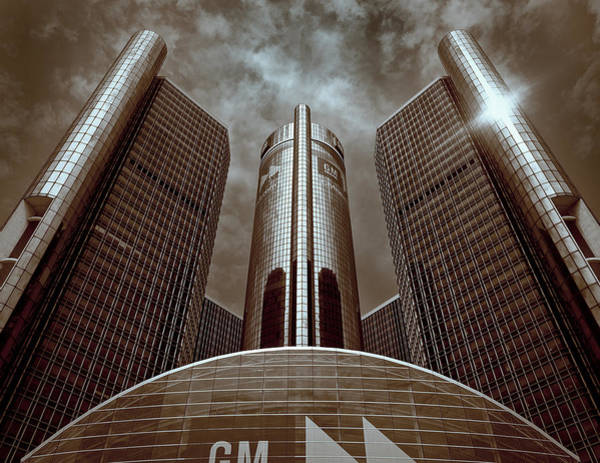 Photograph - Renaissance Center - Detroit by James Howe