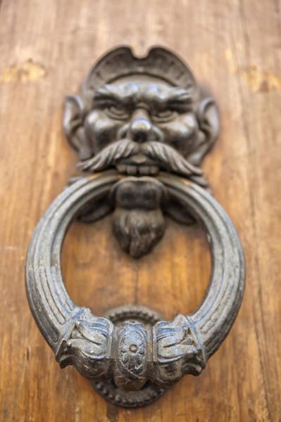 Photograph - Renaissance Door Knocker by Melany Sarafis