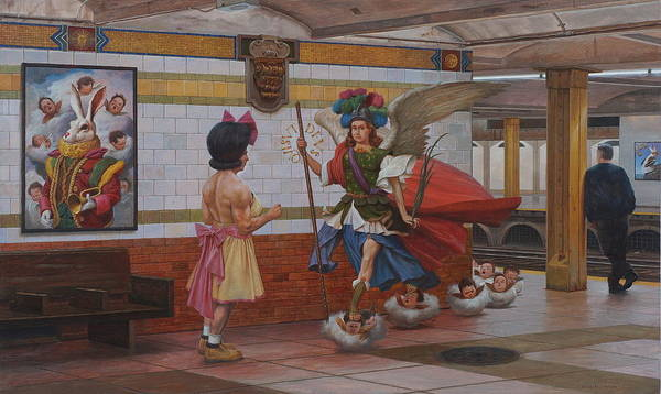 Terracotta Painting - Rendezvous by Alfredo Arcia