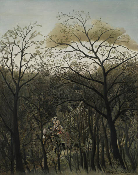 Naive Wall Art - Painting - Rendezvous In The Forest by Henri J F Rousseau