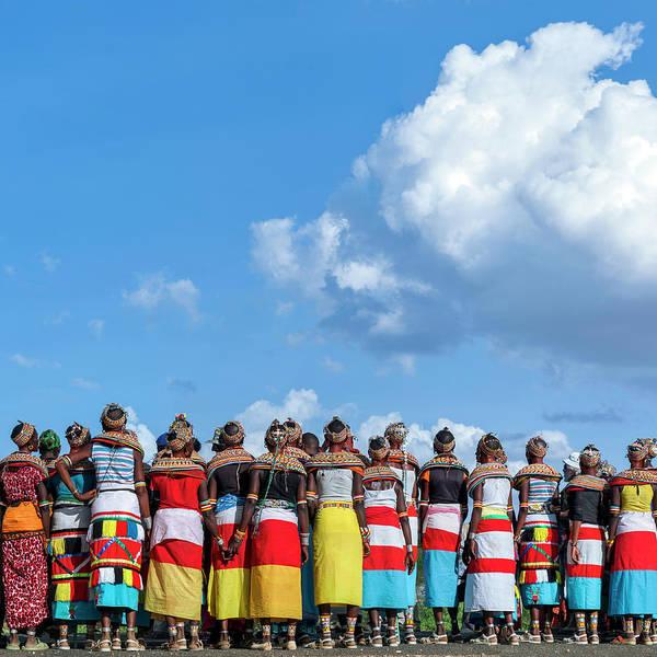 Indigenous People Wall Art - Photograph - Rendille And Samburu Traditional Dress by Babak Tafreshi
