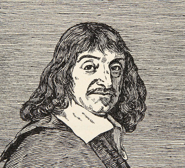Mathematics Drawing - Rene Descartes by French School