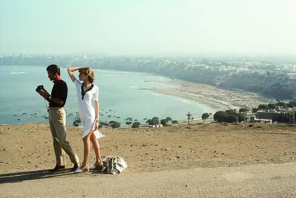 Lima Photograph - Rene Russo Wearing A White T Shirt Dress by Francesco Scavullo
