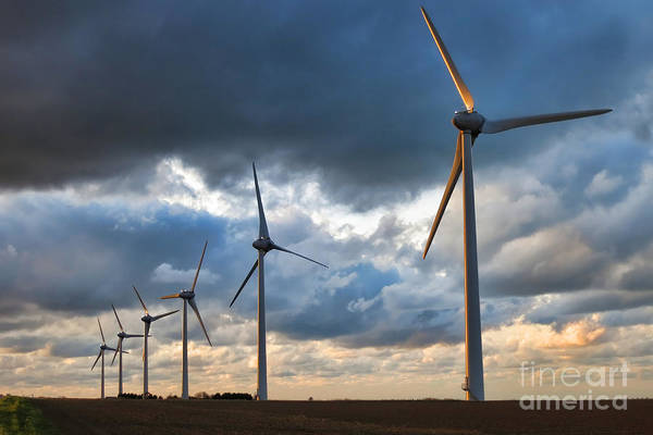 Wind Generator Photograph - Renewable Energy by Olivier Le Queinec