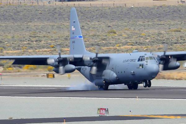 Photograph - Reno Air Races Air Force C130 Landing by John King